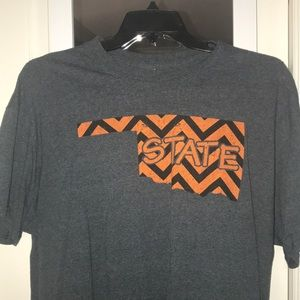 Grey Oklahoma State XL T-Shirt